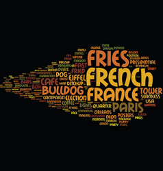 French word cloud concept vector