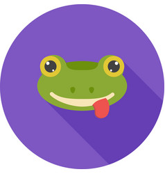 frog face vector image vector image