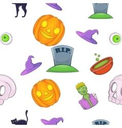 Halloween pattern cartoon style vector