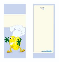 Lemon cartoon character card vector