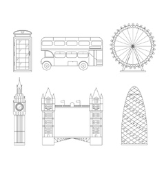 London City Thin Line Art vector image vector image