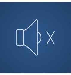 Mute speaker line icon vector image