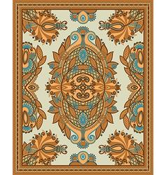 Ornamental seamless carpet design vector