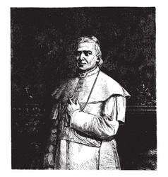 Pope pius ix vintage vector