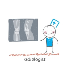 Radiologist with x-ray images vector