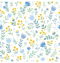 seamless with wild flowers vector image vector image