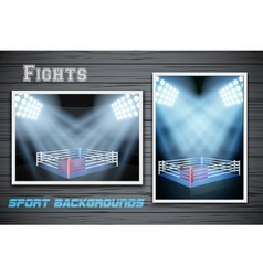 Set Backgrounds of fighting prize vector image