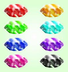 set of gems vector image