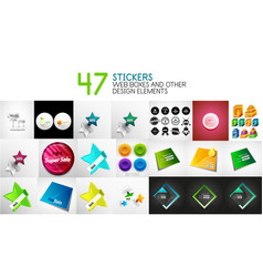 set of stickers labels web design vector image
