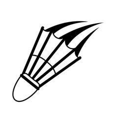 shuttlecock badminton sport icon image vector image vector image