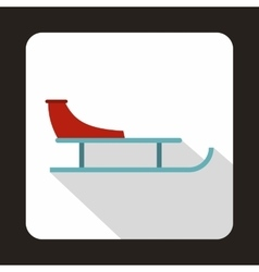 Sled icon in flat style vector