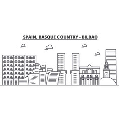 Spain bilbao basque country architecture line vector