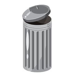 Trash bin icon cartoon style vector