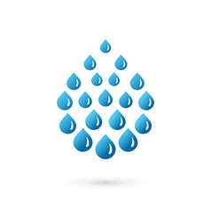 Water drop symbol logo icon vector
