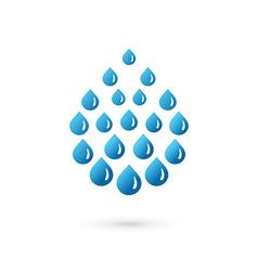 Water drop symbol logo icon vector image