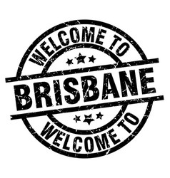 Welcome to brisbane black stamp vector