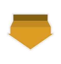 Yellow arrow icon direction design vector