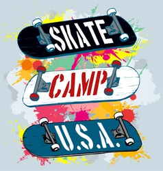 skate camp vector image