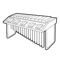 Synthesizer icon outline isometric style vector