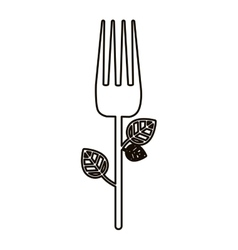 Isolated fork design vector