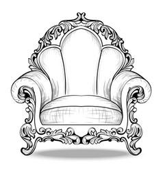 Exquisite imperial baroque armchair luxurious vector