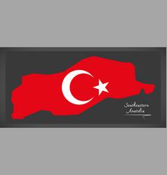 Southeastern anatolia turkey map vector