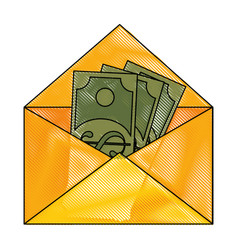 Mail with money vector