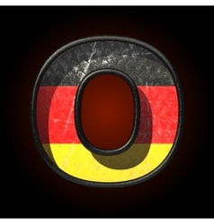 Germany cutted figure o vector