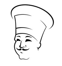 Doodle sketch of a chef in a toque vector image