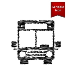 Bus icon with pen effect vector