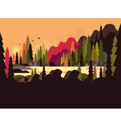 Landscape forest flat design vector