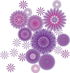 of abstract flower vector image