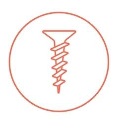 Screw line icon vector