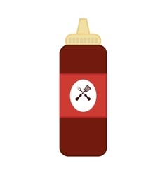 Sauce bottle icon fast food design vector