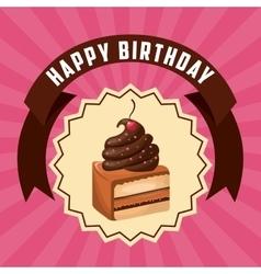 Cake icon happy birthday design graphic vector