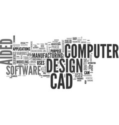 A guide to computer aided design text word cloud vector