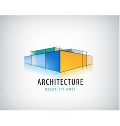 abstract 3d architecture sign building vector image vector image