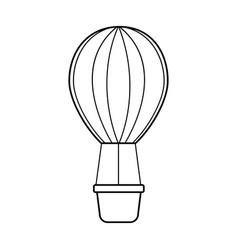Air ballon romantic decoration image vector