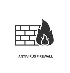 antivirus firewall icon vector image vector image