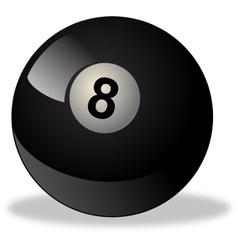 Black billiard ball number 8 vector