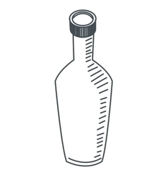 bottle line icon vector image