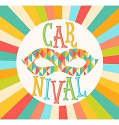 carnival funfair vector image vector image
