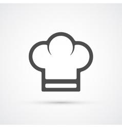Chef cook cap trendy icon vector image