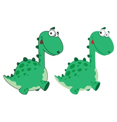 Cute dino cartoon vector