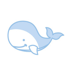 cute whale tender icon vector image