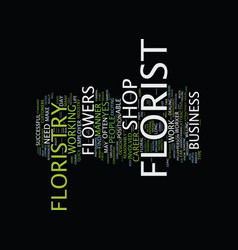 Floristry as a career text background word cloud vector