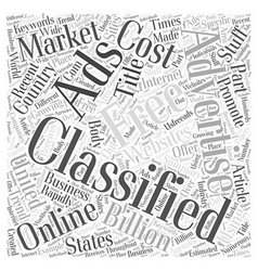 Free classifieds using them to promote your stuff vector