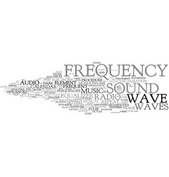 Frequency word cloud concept vector