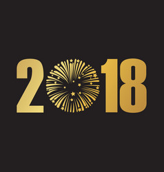 happy new year 2018 black vector image vector image
