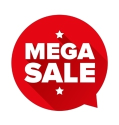 Mega Sale sticker vector image vector image
